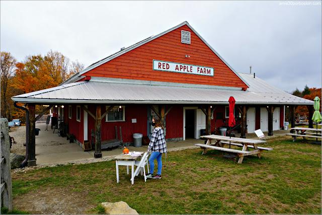 Granero Sidrería en Red Apple Farm, Massachusetts