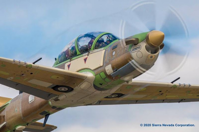 Nigerian A-29 Super Tucano first flight