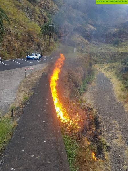 Incendio en la tarde del martes en el Barranco de Dolores