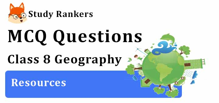 MCQ Questions for Class 8 Geography: Ch 1 Resources