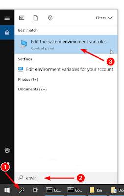access_menu_system_environtment