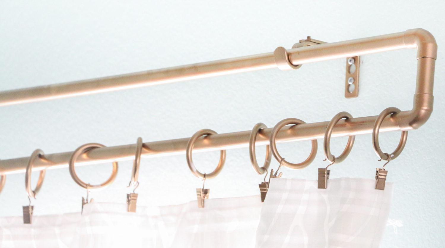 DIY It - A Gold Pipe Curtain Rod - A Kailo Chic Life for Fancy Curtain Brackets  103wja