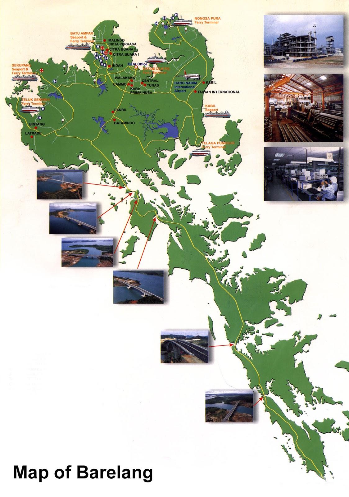 > Peta Lengkap Indonesia: Peta Barelang, Batam Kepulauan Riau