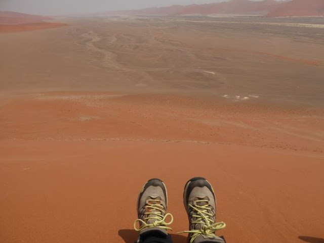 le scarpe da trekking The North face in namibia