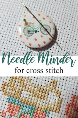 Using a Needle Minder for Cross Stitch