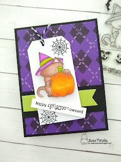 Argyle Fun a card by Diane Morales Argyle Stencil Set by Newton's Nook Designs