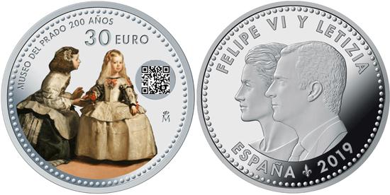 Spain 30 euro 2019 - 200 years of the Prado Museum