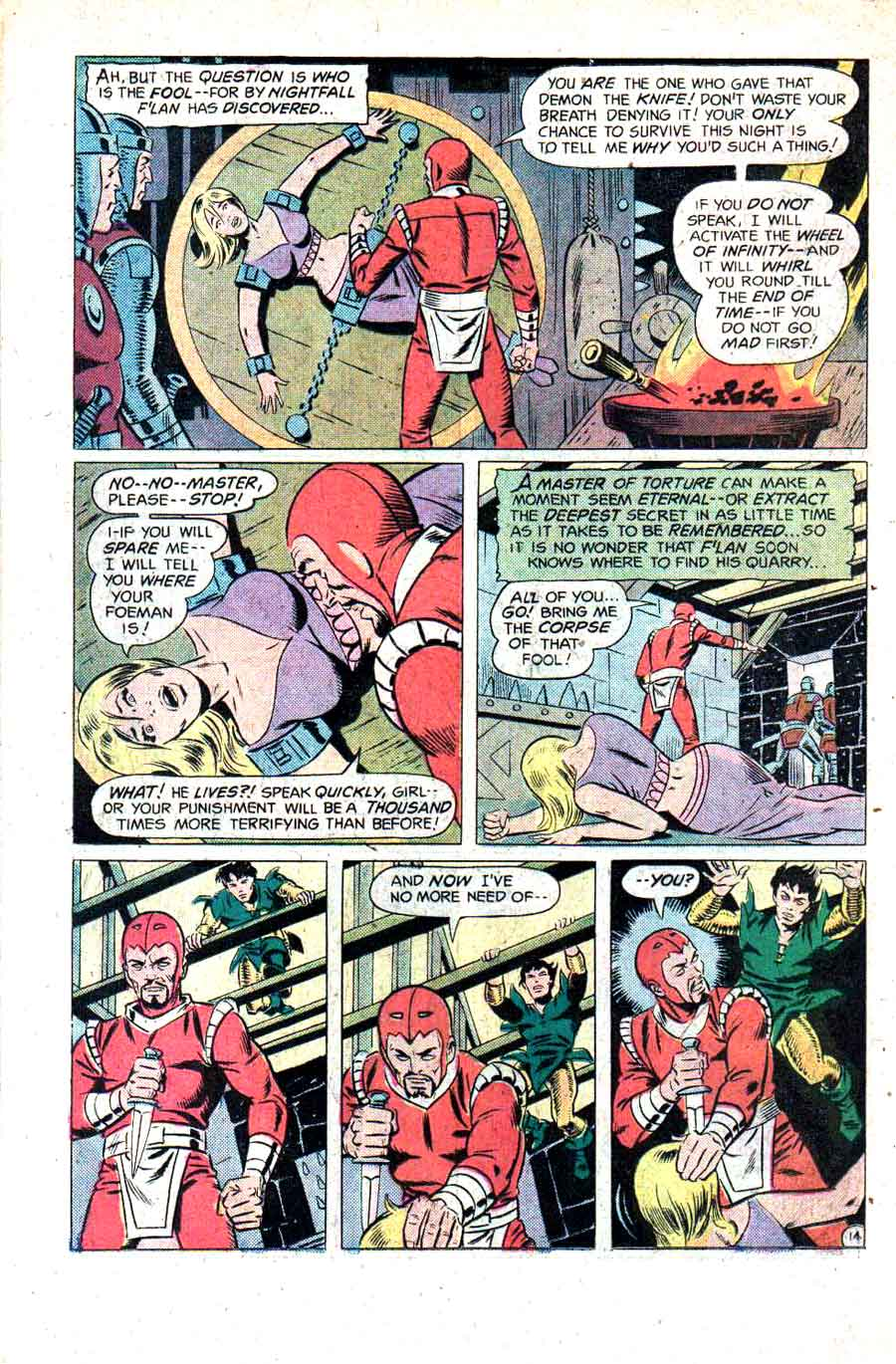 Stalker v1 #2 dc bronze age comic book page art by Steve Ditko, Wally Wood