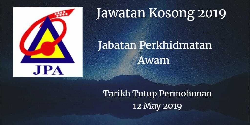 Jawatan Kosong JPA 12 May 2019