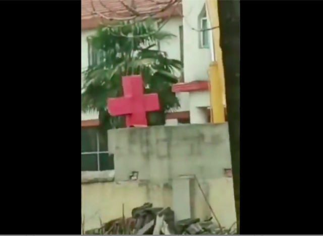 China demolishes church, removes crosses as Christians worship at home