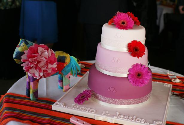 decoration mariage theme mexique gâteau