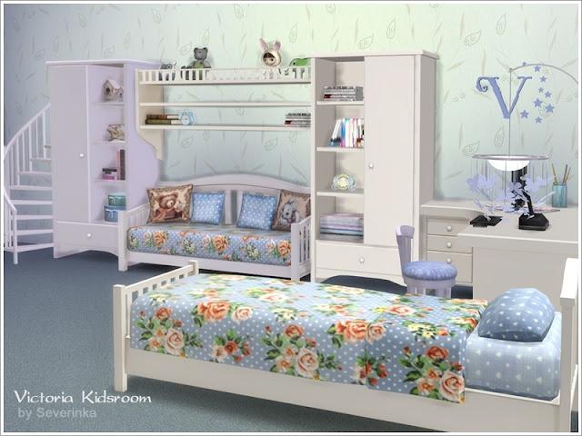 Симс 4, для The Sims 4, The Sims 4, моды для Sims 4, предметы для Sims 4, Severinka_, Sims 4, мебель, декор, детская комната, детская кровать, детская мебель, декор для детской, комната для ребенка, романтический стиль, шебби, декор для детской, украшение детской,
