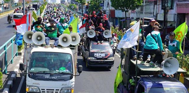 Tolak Revisi UU yang Merugikan Rakyat, Ribuan Buruh Bergerak Siap Geruduk DPR