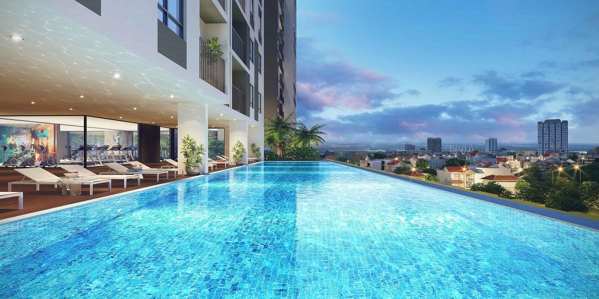 Bể bơi vô cực có thiết kế hiện đại