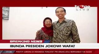 Kabar Duka, Ibunda Presiden Joko Widodo Meninggal Dunia