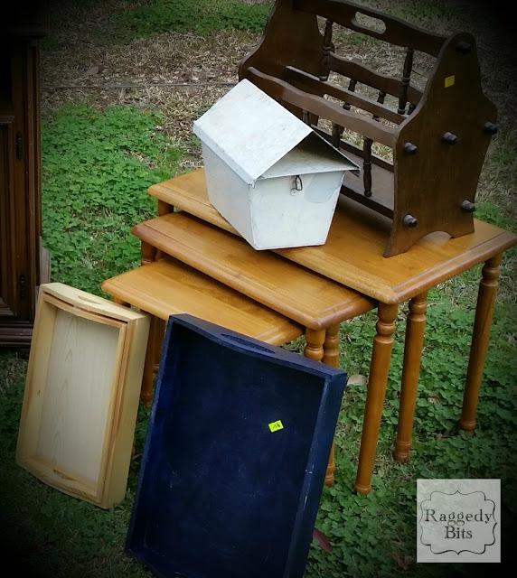 DIY Vintage Postcard Nesting Tables | www.raggedy-bits.com