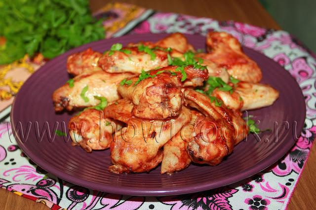 рецепт куриных крылышек в остром томатном соусе