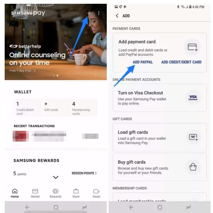 How to add your PayPal account to Samsung Pay