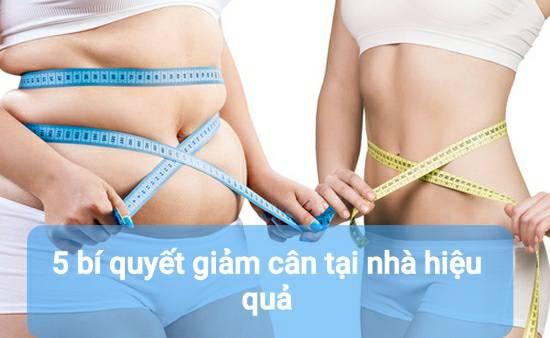 5 bí quyết giảm cân tại nhà hiệu quả