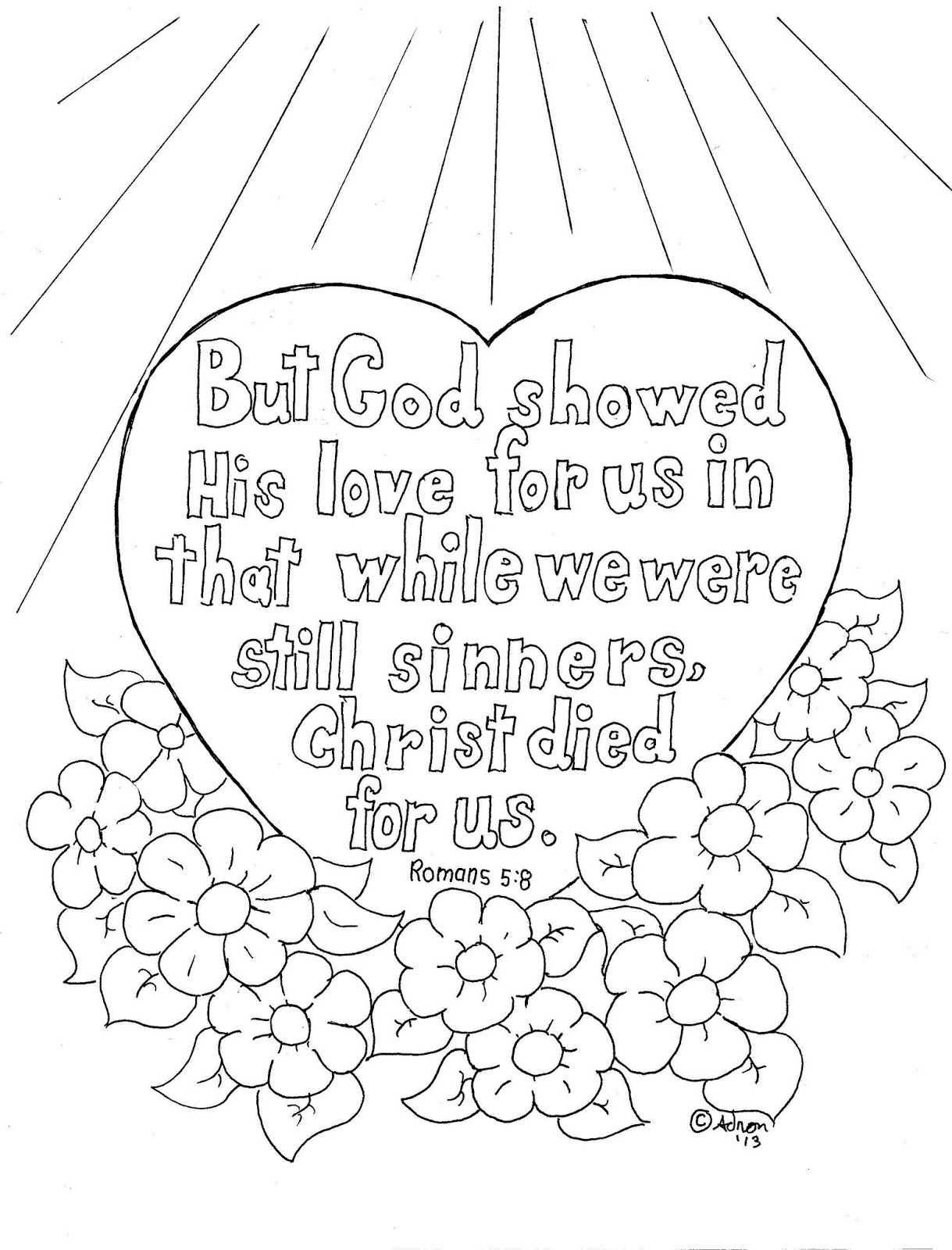 Coloring Pages Book Of Romans Children 39s Gems In My Treasure Box