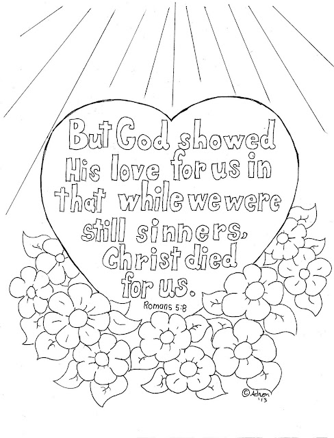 Coloring Pages for Kids by Mr. Adron: Romans 5:8 Coloring