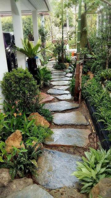 ممر حديقة منزلية بتصميم عصري 2020