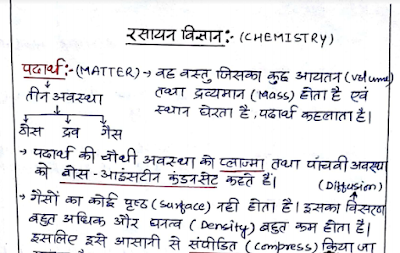 रसायन विज्ञान नोट्स