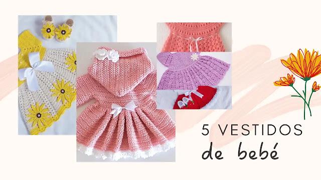 Los 5 vestidos de bebé más coquetos que hemos visto | Tutoriales a Crochet