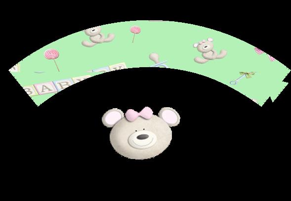 Wraprpers para Cupcake para Imprimir Gratis de Bebés