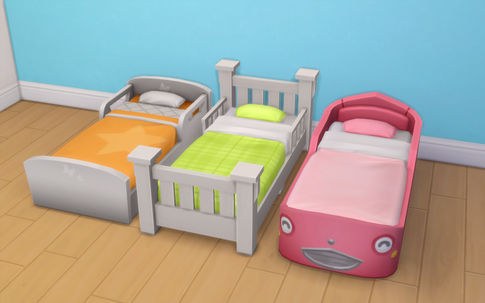 My Sims 4 Blog Toddler Bed Recolors By NoodlesCC