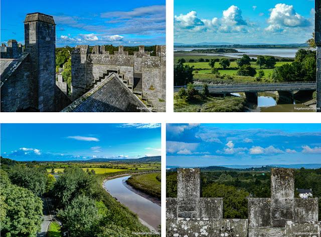 Terraço de observação do Castelo de Bunratty: vista para os campos e o Rio Ralty