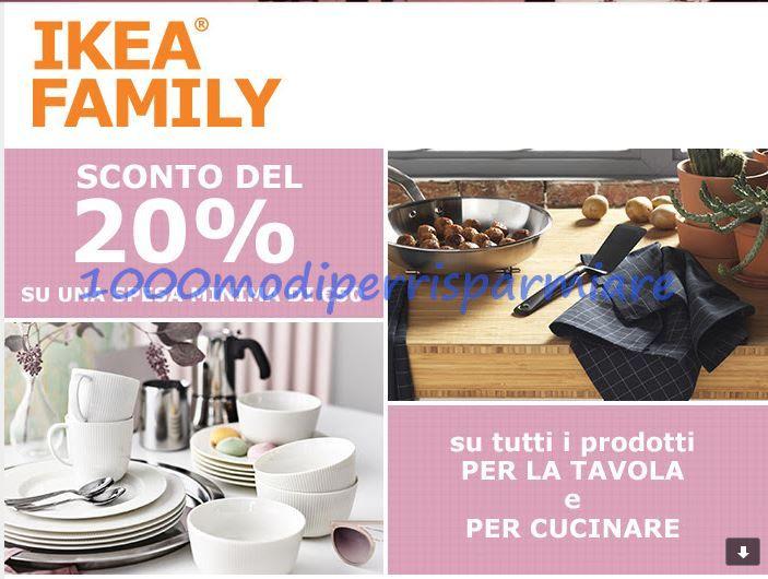 IKEA: Sconto del 20% su tutti i prodotti per la tavola e per la ...