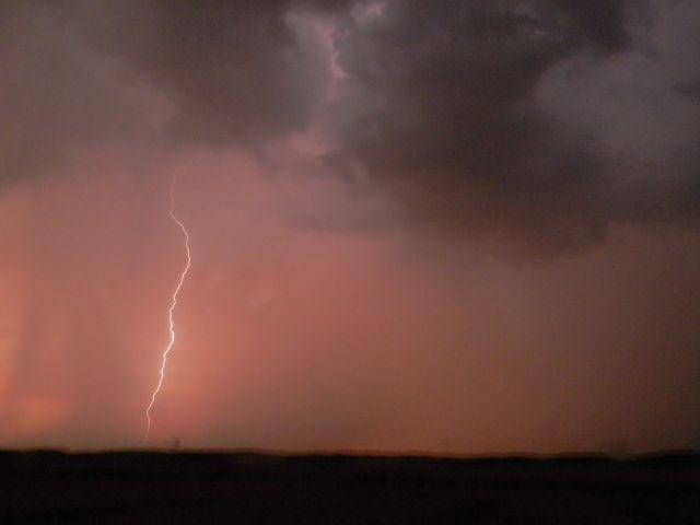 błyskawice, burza, niebo, chmury