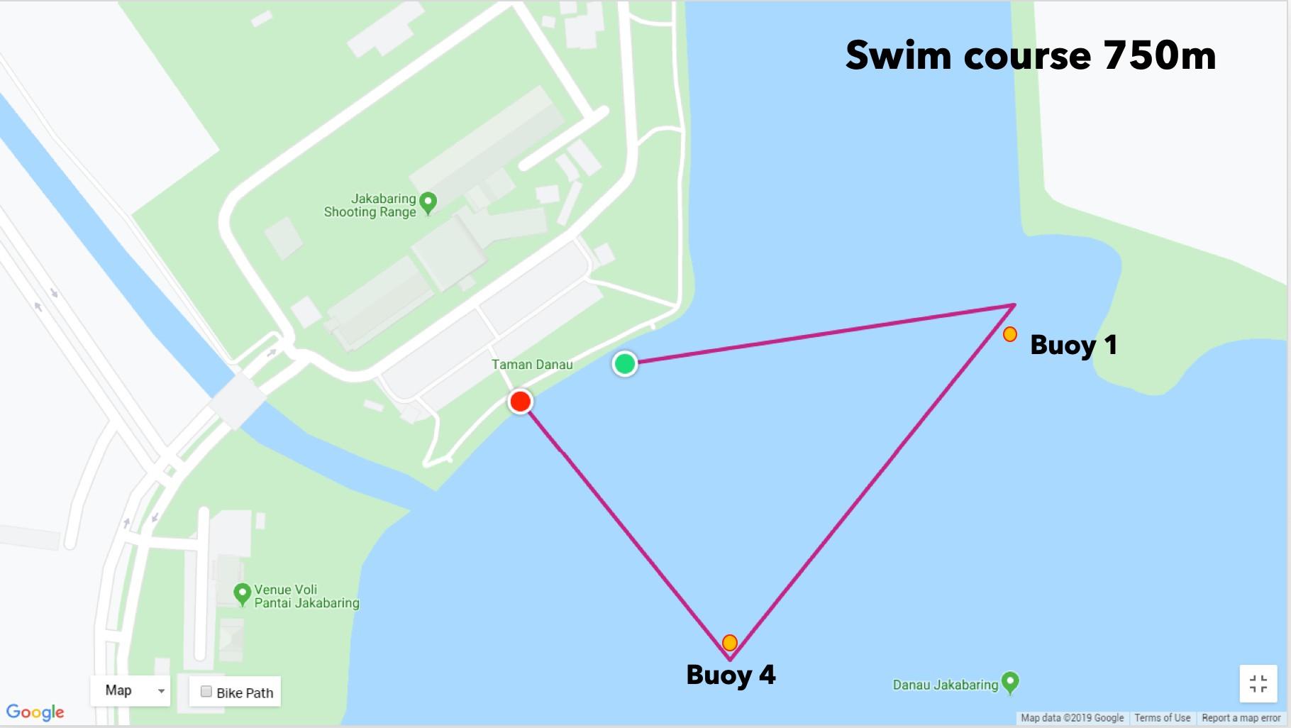 750m Swim � Palembang Triathlon • 2021