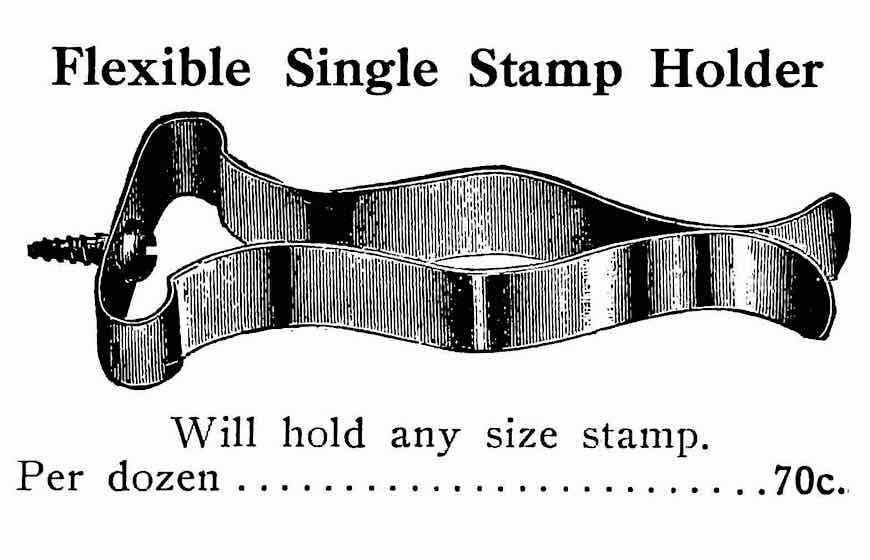 a 1911 single stamp holder illustrated