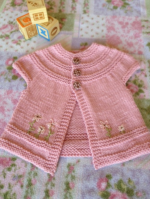 In threes... a Baby Cardigan - Knitting Pattern