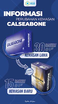 Calseabone kini hadir dengan kemasan baru, kemasan ekonomis.