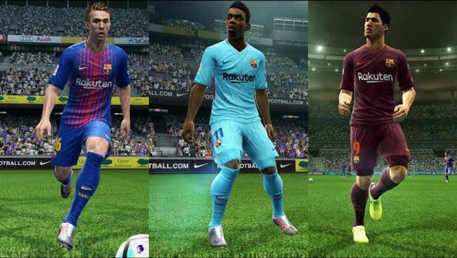 Barcelona 2017-2018 Kit PES 2013