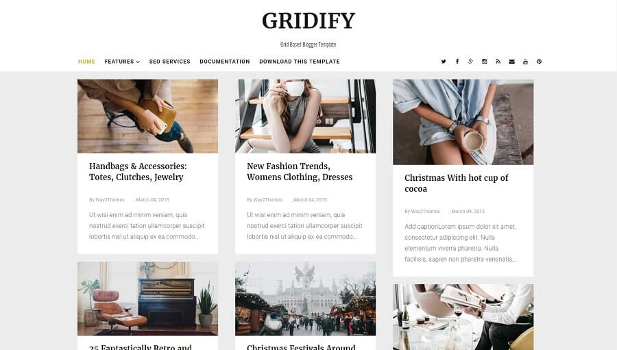 Gridify - Responsive Blogger Template