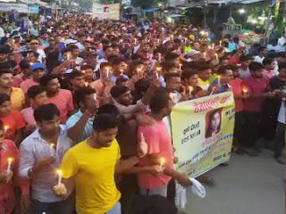 वैशाली में कोचिंग करने निकली छात्रा की बुधवार को मिली लाश, लोगों का विरोध में कैंडल मार्च, चिराग पासवान ने सरकार पर हमला बोला