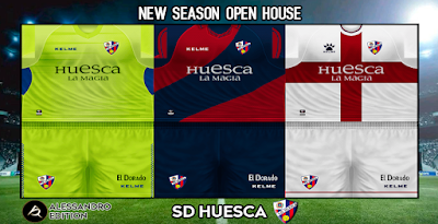 PES 6 Kits S.D. Huesca Season 2018/2019 by Alessandro