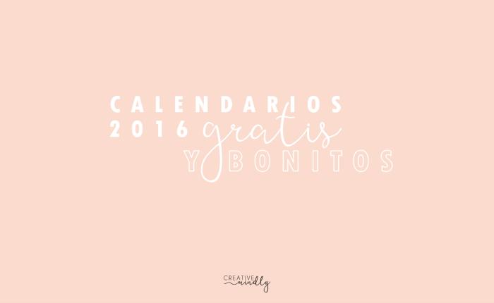 CALENDARIOS GRATIS BONITOS 2016