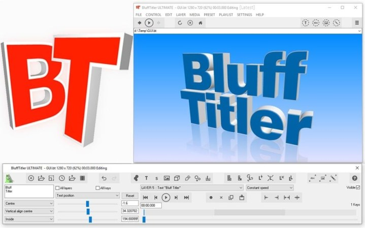 BluffTitler Ultimate Portable v15.0.0.4 - Tạo intro video 3d