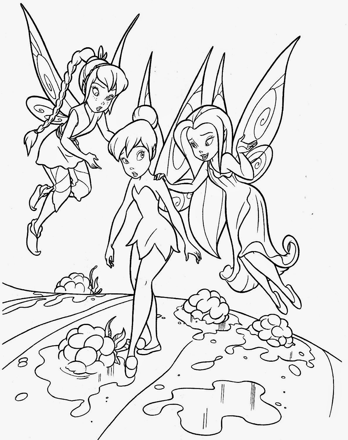 Fun Amp Learn Free Worksheets For Kid Tinkerbell Coloring Pages