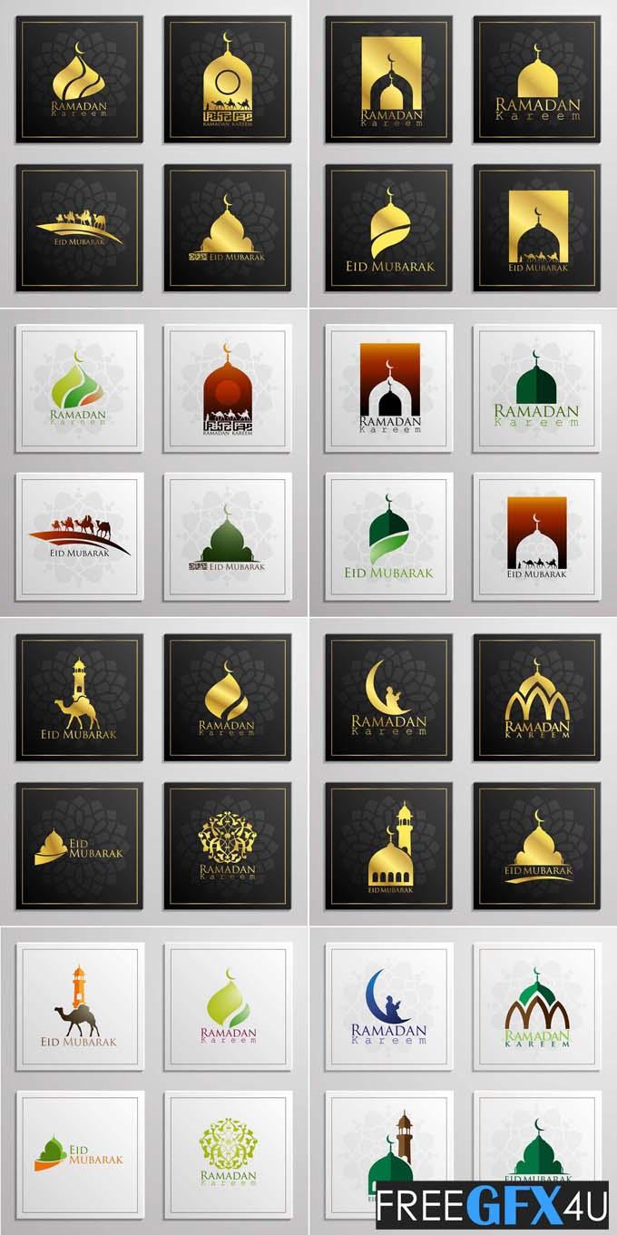 Vector Islamic Ramadan And Eid Mubarak Template
