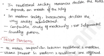 Sociology handwritten notes