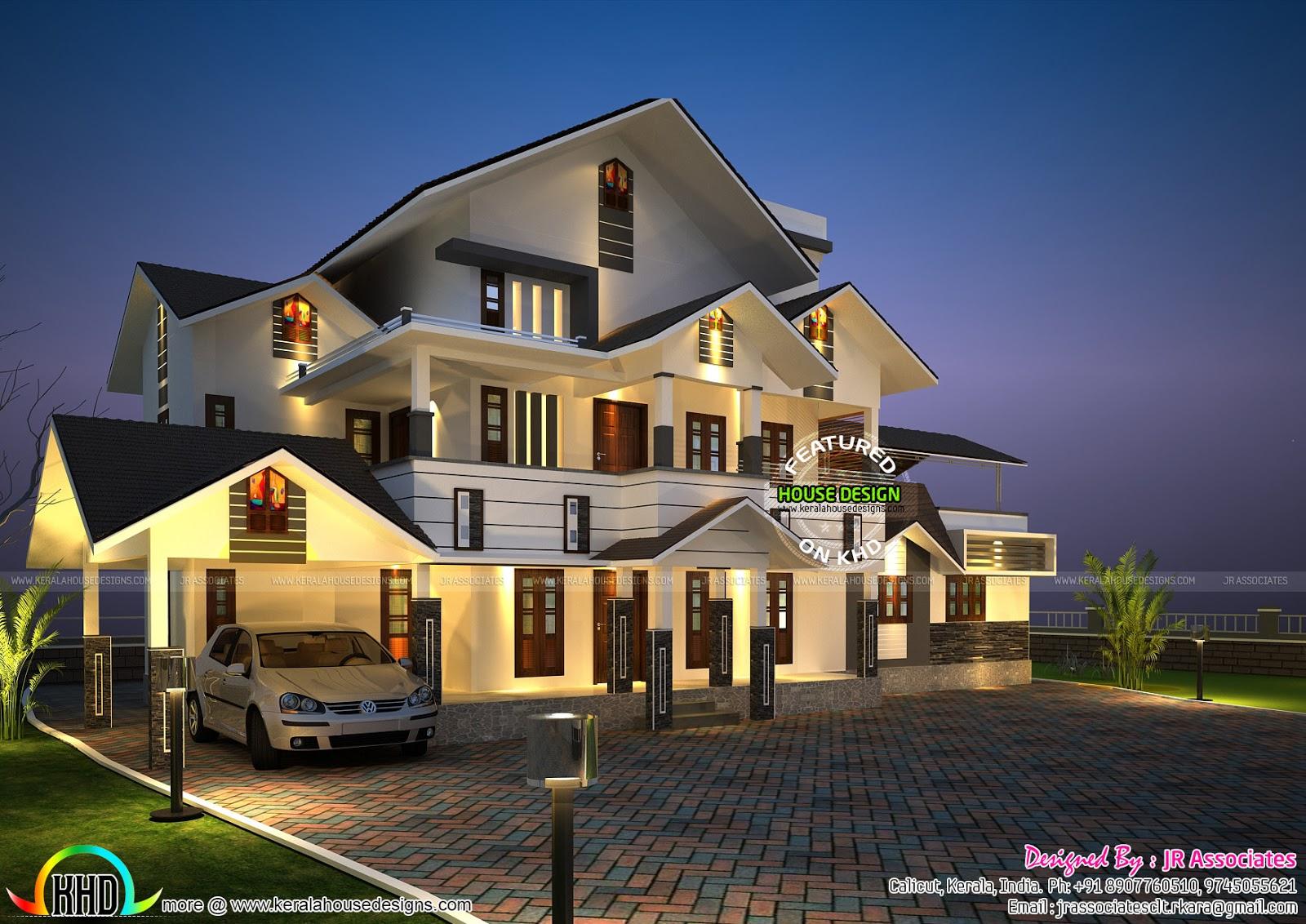 Kerala house plan by JR associates - Kerala home design ...