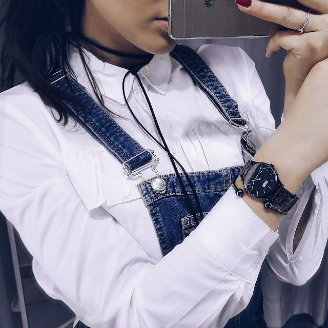mode blogger, modeblogger, vanessa w, vanessa worth. fashion blogger, denim, latzhose, ootd, fashion, inspiration, mode, kleidung, deutsche blogger, choker, choker amazon