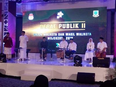 Debat Publik Pilwali Mojokerto Putaran Kedua, Empat Kandidat Janji Bersih bersih ASN Korup