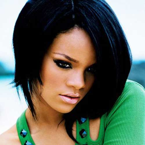 Strange Newest Rihanna39S Bob Cut Jere Haircuts Short Hairstyles For Black Women Fulllsitofus